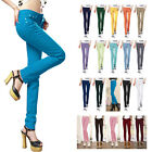 Fashion Women Autumn Candy Color Slim Pencil Pants Casual Skinny Jeans Trousers