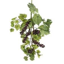 Grape Leaf & Grapes Floral Stem  matching garland & wreath available too NEW RAZ