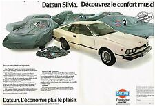 Publicité Advertising 1980 (2 pages) Datsun Silvia 1800 cm3 injection