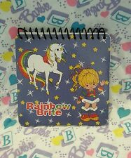 NEW Retro Vintage Style - RAINBOW BRITE - Blue Spiral Mini Memo Pad - 60 Sheets