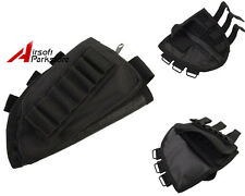 Airsoft Tactical Military Hunting Rifle Shotgun Stock Ammo Pouch Holder Black