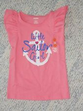 "NWT - Gymboree ""Hop n Roll"" short sleeved pink ""Little Sailor Girl"" top - 4"