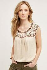 136194 New $88 Akemi + Kin Anthropologie Mirabelle Tee Embellished Blouse Top M