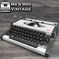 Serviced Olympia Traveller De Luxe S Grey Typewriter Working Black Ribbon