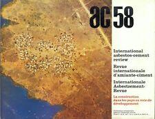 ARCHITETTURA AC 58 APRILE  1970 REVUE INTERNATIONALE D'AMIANTE CIMENT