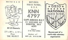 USA National Radio Patrol KNN4797 Barberton OH Radio Club RADIOAMATORI (R-L 108)