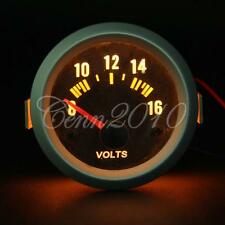 52MM LED DIGITALE STRUMENTO MANOMETRO VOLTMETRO TENSIONE AUTO MOTO CARBONO 12V