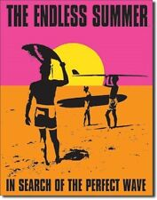 """12 1/2"""" X 16"""" TIN SIGN ENDLESS SUMMER SEARCH OF THE PERFECT WAVE METAL SIGN NEW"""
