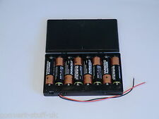 12 volt power supply. 8x AA 1.5volt battery holder.