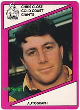 1988 SCANLENS RUGBY LEAGUE #121: CHRIS CLOSE - GOLD COAST GIANTS/ORIGIN MANAGER