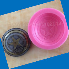 Captain America Superhero Silicone Mold fondant, chocolate, soap, clay, resin