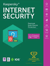 Kaspersky Internet Security 2017, 5 PC Mac Android iOS, (Exp. Date: 3/14/2018)