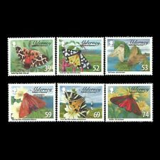 Alderney 2012 - Alderney Tiger Moths Nature Butterflies Insects - Sc 440/5 MNH