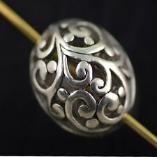 Bulk 5pcs Tibet Silver Hollow Out  Loose Beads Spacer Charms Findings 16*11mm