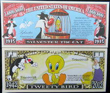 Sylvester the Cat & Tweety Bird FREE SHIPPING! Million-dollar novelty bills
