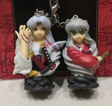INUYASHA Official MOVIE Version Keychain Mascots Inuyasha Sesshoumaru Pair RARE
