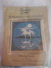"Vintage Something Special Longstitch Needlpoint ""Reflecting Unicorn"" No.30287"