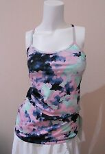 NWT Lululemon Power Y Tank *Luon Sz 6 Clouded dreams multi, Wild Free Sold Out!
