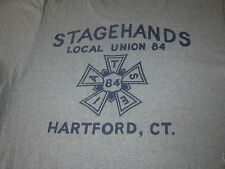 STAGE HANDS VINTAGE 80S LOCAL UNION 84 TEE SHIRT LIGHTING GRIPS SCREEN STARS TAG