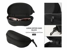 New Black large Zipper Box Bag Reading Glasses Sunglasses Case