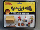 WOODLAND SCENICS CAMPERS o gauge train figures tent fire sleeping bags WDS2754