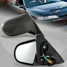 For 1990-1993 Acura Integra Spoon Carbon Look ABS Plastic Power Side Mirrors
