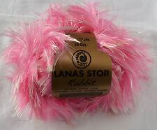 Lanas Stop 50 Gr. Rabbit Pelzwolle Effektgarn rosa Farbe 315  Neu