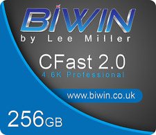 BiWin 256GB Cfast 2.0 Memory Card - Blackmagic compatible.