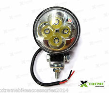 4 Cree LED 12w Fog DRL Off Road SUV Bar Light For Royal Enfield Electra Twin Spa