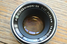 Auto Yashinon DX 1:1.7 50mm M42 mount Lens
