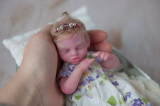 """Solid Silicone 8"""" mini full body baby girl doll - reborn Mina by Maria L Grover"""