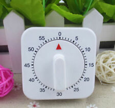 60 Minutes White Shape Kitchen Mechanical Cooking Timer Counter Alarm Tool