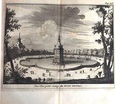 Madrid, Buen Retiro, grabado original, Van der Aa , Leyden, 1707