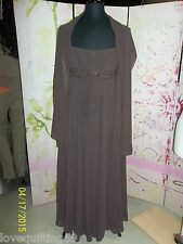 David's Bridal, Special Occasion or Prom Dress, Chocolate Brown, Spaghetti Strap