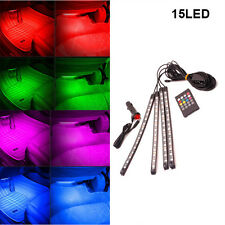 Music Control Colorful RGB Car 15 LED Interior Floor Decorative Floor Lights