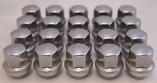 20 New Chrysler 300 Factory OEM Stainless Polished Lug Nuts 14x1.5 6509873AA