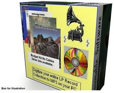 VINYL records LPs tapes to MP3 on audio CD full software kit & instructions SAVE