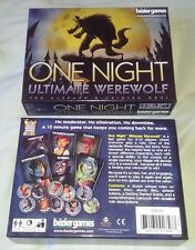 One Night Ultimate Werewolf Board Game Complete Great Condition