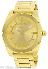 Diesel Gold Tone Stainless Steel Case and Bracelet Gold Tone Dial DZ5345