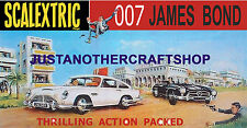 Scalextric 1968 James Bond Set Gran Cartel Anuncio signo Aston Martin Mercedes
