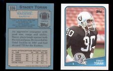 1988 Topps STACEY TORAN Oakland Raiders Rookie Card