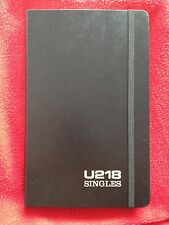 U2 18 SINGLES MOLESKIN LEATHER Note Book / Pad Rare Promo