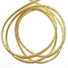 """WC318f French Wire Gold-Finish Twist Tube 1mm Bullion Jewelry Component 13""""/pkg"""