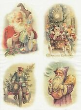 Rice Paper for Decoupage Decopatch Scrapbook Craft Sheet Vintage Working Santa