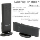Amplified UHF/VHF/DAB FM Indoor Digital HD TV Aerial Antenna USB or Mains Power