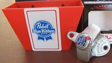 Pabst Blue Ribbon Beer Bottle Opener & Rare Playing Card / Cap Catcher   NIB PBR