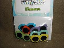 Prepackaged SUMMER SHADES Novelty Theme Buttons - Buttons Galore - All Crafts
