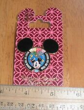 Mickey Mouse Ears shape Disney Pin spinner what in the world will we do today?