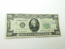 Old Paper Money 1950A Twenty $20 Dollar Bill Federal Reserve Note