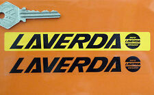 LAVERDA Number Plate Dealer Logo Cover STICKER Yellow Motorcycle Bike Jota CL